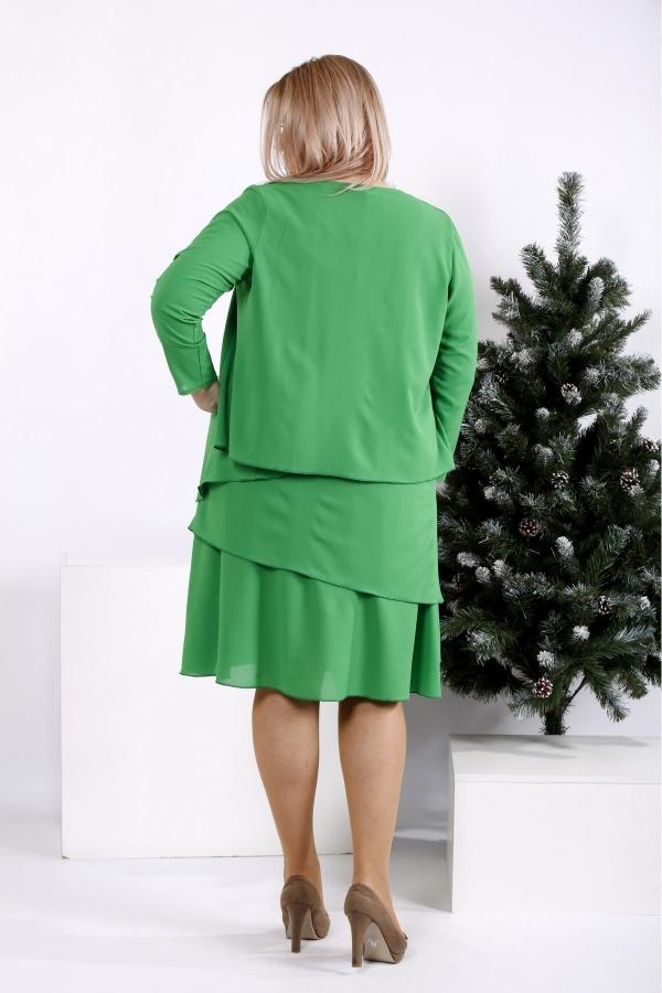 Spoločenské šaty s kabátkem pre moletky 0955-3 (102-96-102)